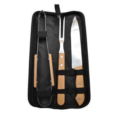 SET PARRILLA 3PZAS ESTUCHE NYLON BLACK