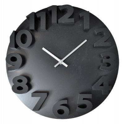RELOJ PARED 35CM BLACK