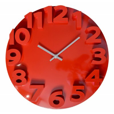RELOJ PARED 35CM RED