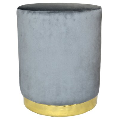 BANQUETA EDWARD COLOR GRIS 35X42CM